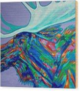 Denali Moose Head Wood Print
