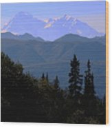 Denali Mountain Wood Print