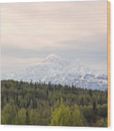 Denali Produces Its Own Weather Wood Print