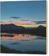 Denali Reflection Lake Wood Print