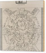 Dendera Zodiac From The Temple Of Hathor Wood Print