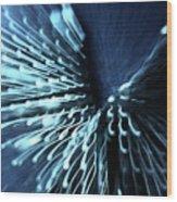 Denim And Light  Abstract 2 Wood Print