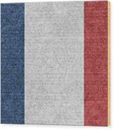 Denim France Flag Illustration Wood Print