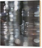 Denmark Abstract Of Glass Chess Set Wood Print