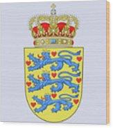 Denmark Coat Of Arms Wood Print