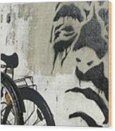 Denmark, Copenhagen Graffiti On Wall Wood Print
