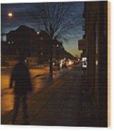 Denmark, Copenhagen, Man Walking Wood Print by Keenpress
