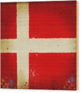 Denmark Flag Wood Print