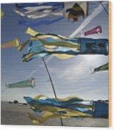Denmark, Romo, Kites Flying At Beach Wood Print