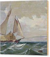 Denny: Hay Schooner, 1871 Wood Print
