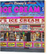 Dennys Ice Cream Shop Wood Print
