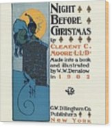Denslows Night Before Christmas By Clement Moore Lld 1902 Wood Print