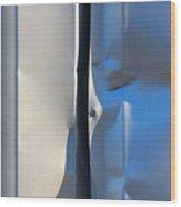 Dented Steel Sheet Wood Print