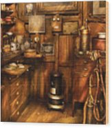 Dentist - The Dentist's Desk  Wood Print