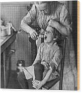 Dentistry, 1920s - To License For Professional Use Visit Granger.com Wood Print