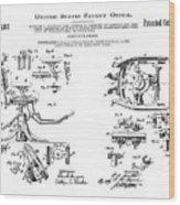 Dentists Chair Patent 1892 Wood Print