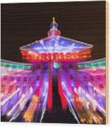 Denver City And County Building Lights Wood Print