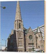 Denver Downtown Church Wood Print