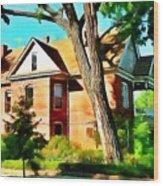 The Denver House Wood Print