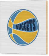 Denver Nuggets Retro Shirt Wood Print