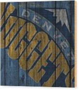 Denver Nuggets Wood Fence Wood Print