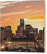 Denver Sunrise Iv Wood Print