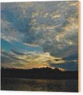 Departing Clouds Wood Print