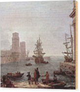 Departure Of Ulysses From The Land Of The Feaci  Wood Print