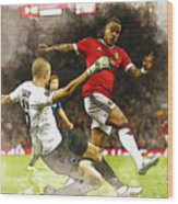 Depay In Action Wood Print