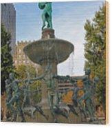 Depew Memorial Fountain Wood Print
