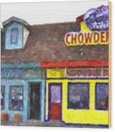 Depoe Bay Oregon - Chowder Bowl Wood Print