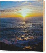 Depoe Bay Sunset Wood Print