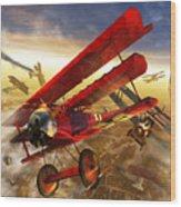 Der Rote Baron Wood Print