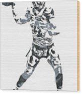 Derek Carr Oakland Raiders Pixel Art 11 Wood Print