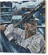 Derek Jeter Wood Print by David Courson
