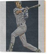 Derek Jeter New York Yankees Art 2 Wood Print