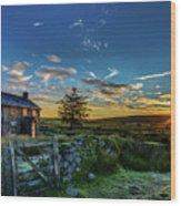 Derelict Cottage Nun's Cross, Dartmoor, Uk. Wood Print