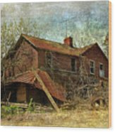 Derelict House Side Wood Print