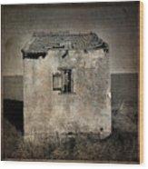 Derelict Hut  Textured Wood Print