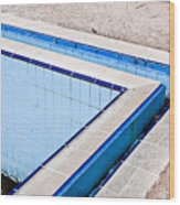 Derelict Swimming Pool Wood Print