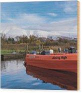 Derwent Water Harbor Wood Print