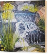 Descanso Waterfall Wood Print