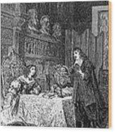Descartes Teaching Queen Christina, 1649 Wood Print