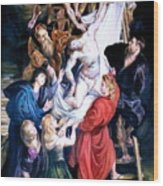Descent From The Cross After Peter Paul Rubens Wood Print