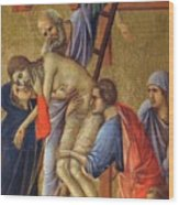 Descent From The Cross Fragment 1311 Wood Print