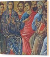 Descent Of The Holy Spirit Upon The Apostles Fragment 1311 Wood Print