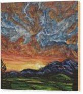 Descent On Mount Diablo Wood Print