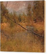 Deschutes River Abstract Wood Print