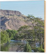Deschutes River At Trout Creek Wood Print