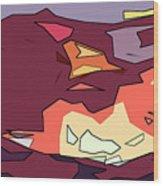 Desert Aspect Panel One Of Three Wood Print